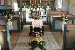 Schon bei Trauerfeiern in der Kirche sieht man oft Schleifen.