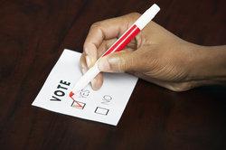 In einer direkten Demokratie gibt es viele Volksabstimmungen.