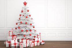 Weiße Weihnachtsbäume sind nicht jedermanns Sache.