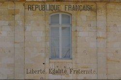 Freiheit, Gleichheit, Brüderlichkeit - Die drei Begriffe der Revolution.