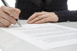 Ein Bewerbungsschreiben sollte immer persönlich unterschrieben werden.