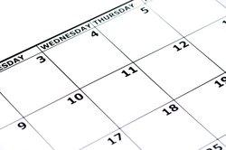 Im Kalender die Übersicht behalten.