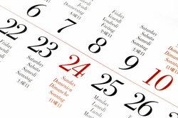 Selbst im Kalender ist Samstag ein Tag wie jeder andere.