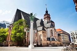 Ausgang der Montagsdemonstrationen - Nikolaikirche in Leipzig