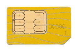 Karten-Nummer auf SIM hinterlegt