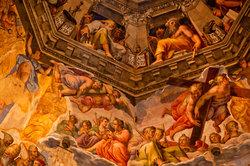 Die Barockmalerei ist lebhaft und farbenprächtig.