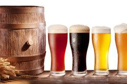 Verschiedene Biere unterscheiden sich im Gewicht.