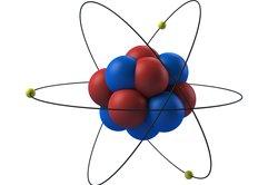 Die Masse befindet sich größtenteils im Atomkern.