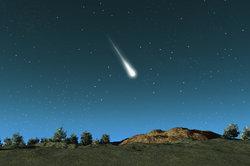 Ein Meteorit, der in der Atmosphäre verglüht