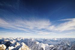 Das majestätisch wirkende Gebirge.