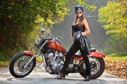 Die Yamaha Virago ist auch ein Damenbike.