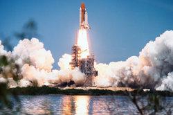 Die Geschwindigkeit eines Space Shuttles beim Start ist nicht so hoch wie gedacht.