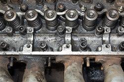 Der Zylinderkopf eines 4-Takt-Motors