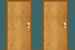 Auch der Türstock soll optisch zur neuen Tür passen.
