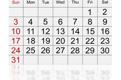 Ein Kalender hilft immer bei der Planung.