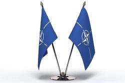 Dies ist die Flagge der NATO.