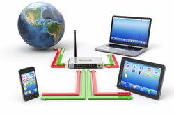 Über den Router gelangen Sie mit verschiedenen Geräten ins Internet.
