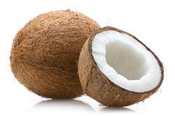 Kokosfett eignet sich gut zum Braten.