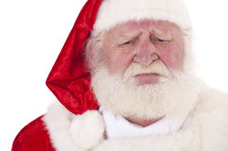 In England kommt Father Christmas zu den Kindern.
