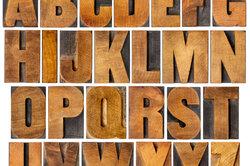 Buchstaben kommen unterschiedlich häufig vor.