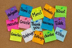 Seinen Dank kann man in vielen Sprachen aussprechen.