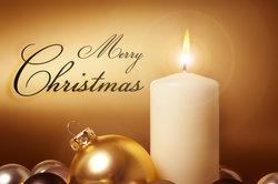 Weihnachtswünsche kann man auch in traurigen Zeiten überbringen.