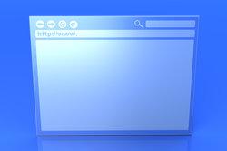 Die Navigation eines jeden Browsers ist unterschiedlich aufgebaut.