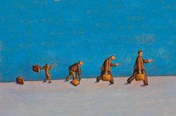 Größe und aufrechter Gang sind Folgen der Evolution.