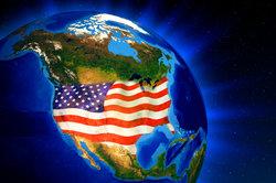 Die USA und eine winzige Ecke Sibirien (oben links)