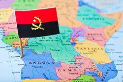 Angola liegt im Südwesten von Afrika.