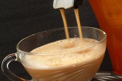 Vorsicht beim Reinigen einer Kaffeepadmaschine