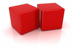 Ein Würfel, dessen Kantenlänge = 3 cm sind, hat ein Volumen von 3 Kubikzentimetern.
