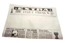 Der Aufbau einer Titelseite einer Zeitung ist sehr wichtig.