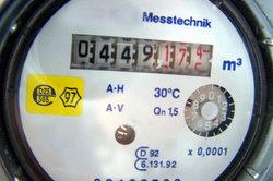 Wasserverbrauch in Kubikmeter.