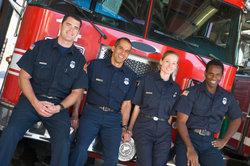 Die Feuerwehr rettet Leben.