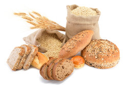 Getreideprodukte enthalten viele Ballaststoffe.