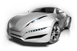 Moderne Autos sind mit Xenon-Licht-Scheinwerfern ausgestattet.