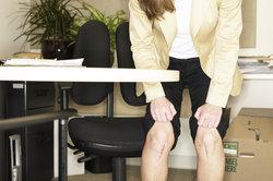 Dellen unter dem Knie sehen nicht schön aus.
