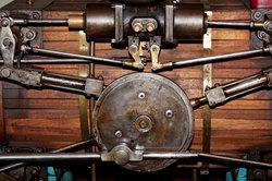 Detaillierter Blick auf eine Dampfmaschine