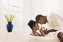 Zusammen baden sollte nicht zu verkrampft ausfallen.