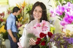 Floristen sollen in ihrem Beruf besonders glücklich sein - weil sie anderen eine Freude machen.
