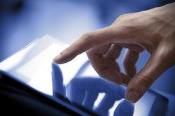 Touchpads sind Eingabegeräte, deren Eingabe Sie mit Ihren Fingern steuern.