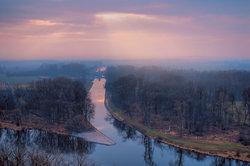 Die Vereinigung der beiden Quellflüsse der Moldau
