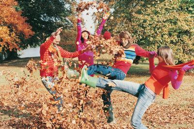 Herbstlaub ist wertvoll und macht Spaß.