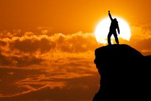 Ist die Sturzangst besiegt, steht dem Gipfelsturm nichts im Weg.