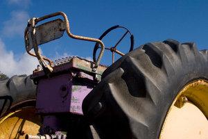 Alte Traktoren boten wenig Komfort.