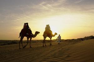Der Ritt auf dem Kamel war nur ein Highlight in Dubai.