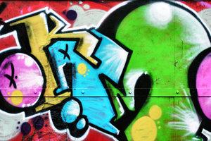Schwarzer Umriss, bunte Farben - Haring ließ sich von Graffitis inspirieren.