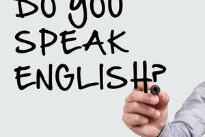 Auch Englisch fällt nicht jedem leicht.