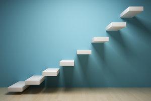 Treppen können auch Kunstwerke sein.